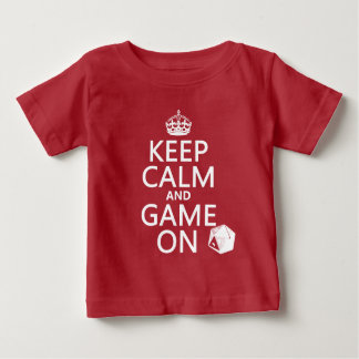 Keep Calm and Game On - dice - all colors Baby T-Shirt