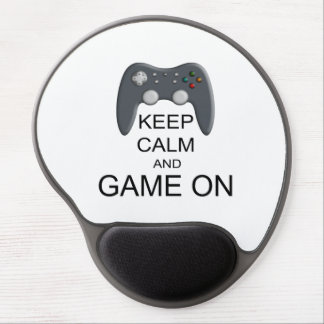 Keep Calm And Game ON Gel Mouse Pad