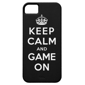 Keep Calm and Game On iPhone 5 Cases