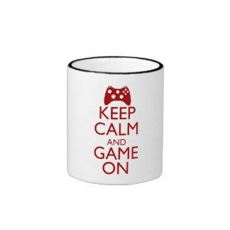 Keep Calm and Game On Ringer Mug