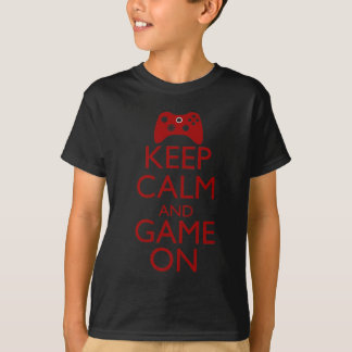 Keep Calm and Game On Tee Shirts