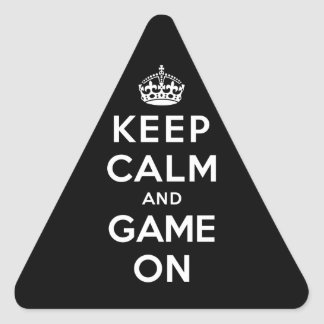 Keep Calm and Game On Triangle Sticker