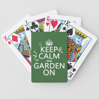 Keep Calm and Garden On - All Colors Bicycle Playing Cards