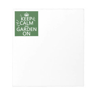 Keep Calm and Garden On - All Colors Notepad
