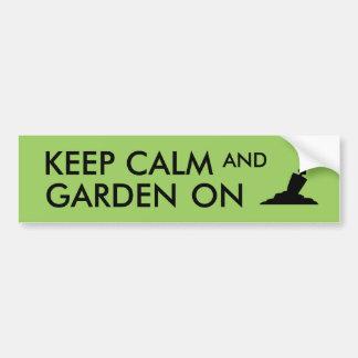 Keep Calm and Garden On Gardening Trowel Custom Bumper Sticker
