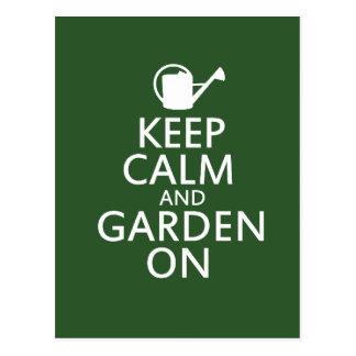 Keep Calm and Garden On Postcard