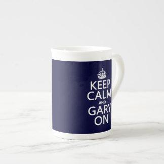 Keep Calm and Gary On (any background color) Bone China Mug