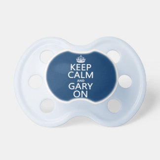 Keep Calm and Gary On any background color Baby Pacifiers