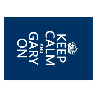 Keep Calm and Gary On (any background color) Pack Of Chubby Business Cards