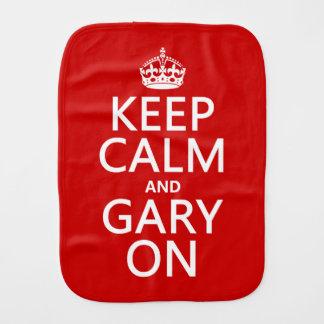 Keep Calm and Gary On Burp Cloths