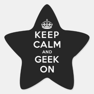Keep Calm and Geek On Star Sticker