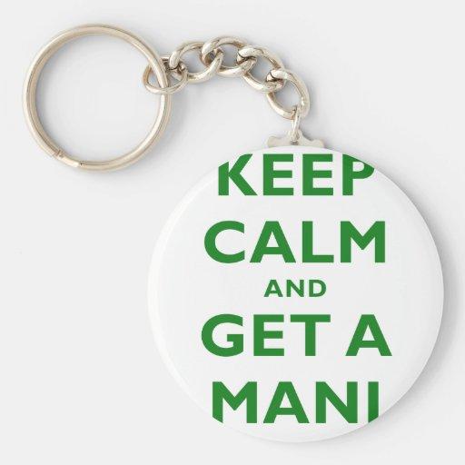 Keep Calm and Get a Mani Key Chains