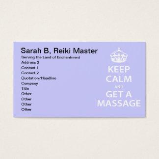 Keep Calm and Get a Massage
