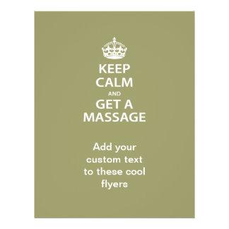 Keep Calm and Get a Massage 21.5 Cm X 28 Cm Flyer