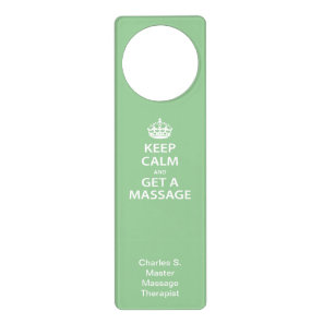 Keep Calm and Get a Massage Door Hanger