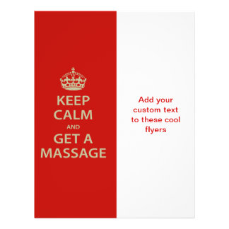 Keep Calm and Get a Massage Full Color Flyer