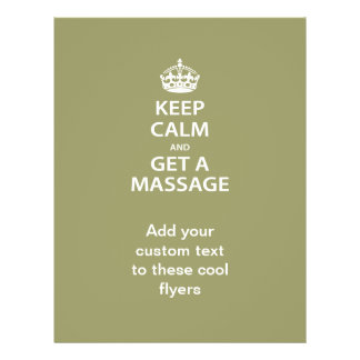 Keep Calm and Get a Massage Flyers