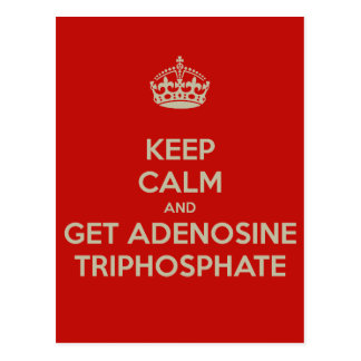 Keep Calm and Get Adenosine Triphosphate Postcard
