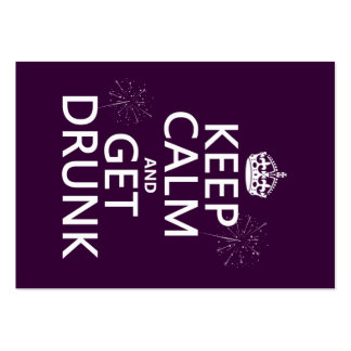 Keep Calm and Get Drunk (changable colors) Business Card Templates