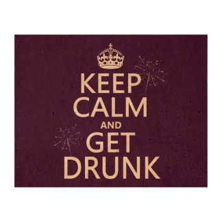 Keep Calm and Get Drunk (changable colors) Cork Paper Print