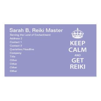 Keep Calm and Get Reiki Business Card Templates