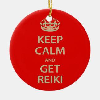Keep Calm and Get Reiki Christmas Ornament