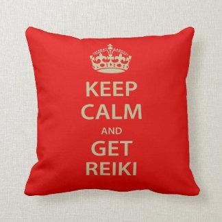 Keep Calm and Get Reiki Cushion
