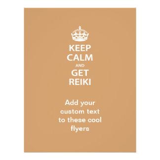 Keep Calm and Get Reiki Custom Flyer