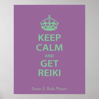 Keep Calm and Get Reiki Poster