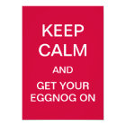 KEEP CALM And Get Your EGGNOG On Invitation (Red)