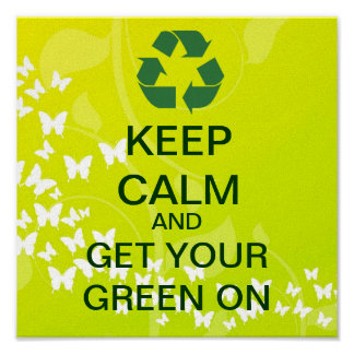 KEEP CALM And Get Your Green On Canvas Print