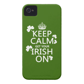 Keep Calm and get your Irish On (any bckgrd color) iPhone 4 Case