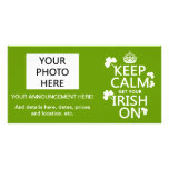 Keep Calm and get your Irish On (any bckgrd colour Photo Cards