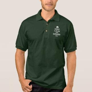 Keep calm and ginger on polo shirt