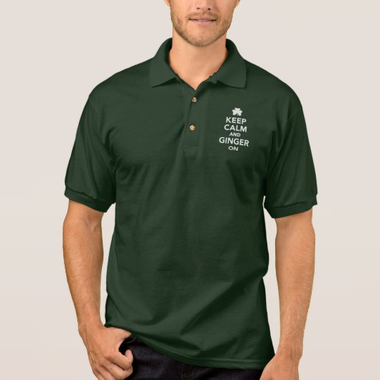 Keep calm and ginger on polo shirt