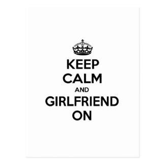 Keep Calm and Girlfriend On Postcard