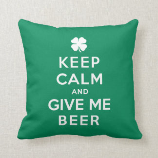 Keep Calm and Give Me Beer Cushion