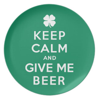 Keep Calm and Give Me Beer Plate