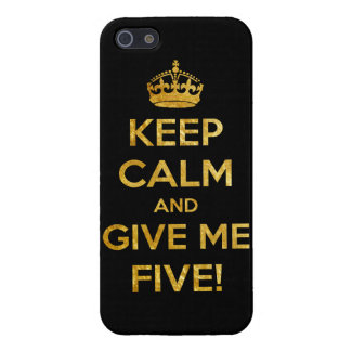 keep calm and give me five iPhone 5 covers