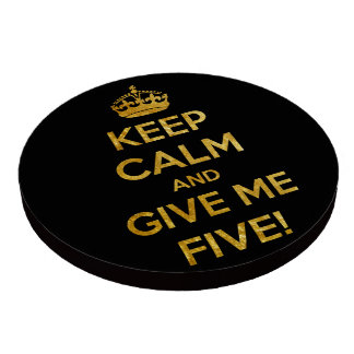 keep calm and give me five poker chips