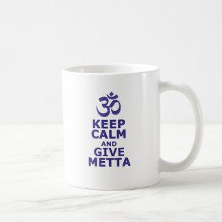 Keep calm and give Metta Basic White Mug