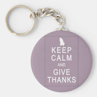 Keep Calm and Give Thanks with Praying Hands Key Chain