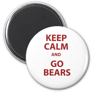 Keep Calm and Go Bears 6 Cm Round Magnet