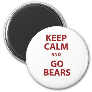 Keep Calm and Go Bears 6 Cm Round Magnet