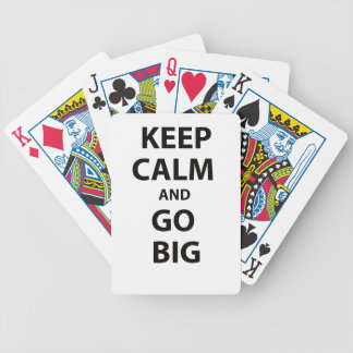Keep Calm and Go Big! Poker Cards