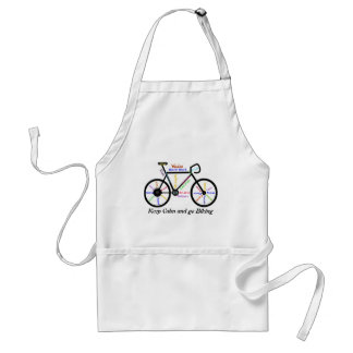 Keep Calm and go Biking, with Motivational Words Standard Apron