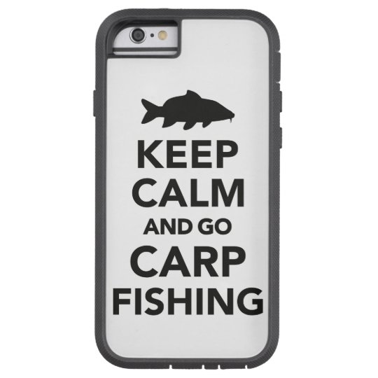 """Keep calm and go carp fishing"" iphone case"