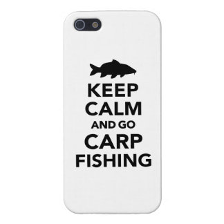 Keep calm and go carp fishing iPhone 5/5S cover