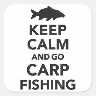 """keep calm and go carp fishing"" sticker"