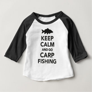 """Keep calm and go carp fishing"" top for kids"
